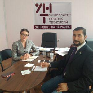 Ректор УНТ зустрілась з головним редактором UKRAINE IN ARABIC