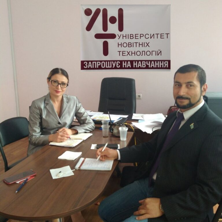 Read more about the article Ректор УНТ зустрілась з головним редактором UKRAINE IN ARABIC